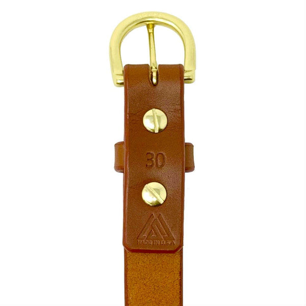 "Last State Leather - Everyday 1"" Belt - Chestnut/Brass - Back"