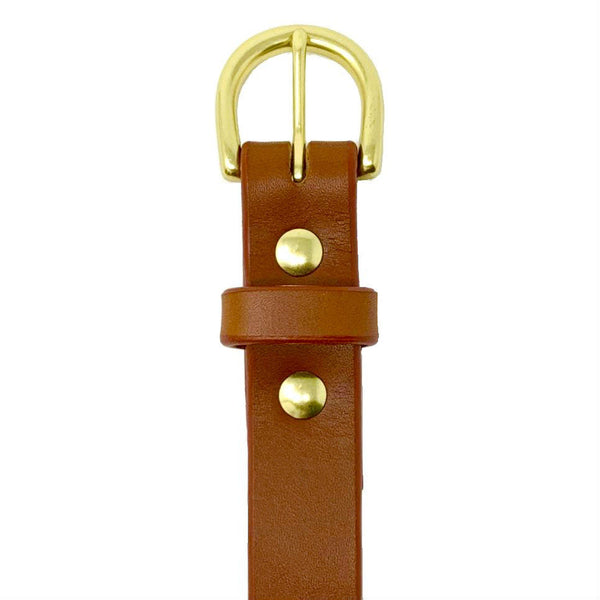 "Last State Leather - Everyday 1"" Belt - Chestnut/Brass - Front"