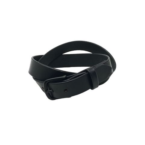 "Last State Leather - Mid 1.25"" Belt - Black/Black"