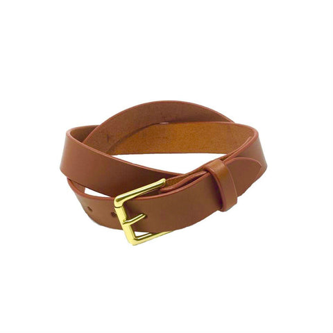 "Last State Leather - Mid 1.25"" Belt - Chestnut/Brass"