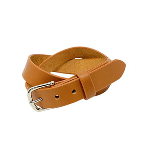 "Last State Leather - Mid 1.25"" Belt - Tan/Nickel"