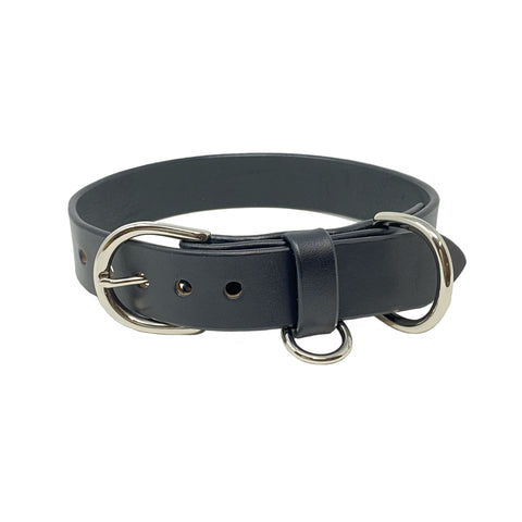Last State Leather - Large Dog Collar - Black/Nickel