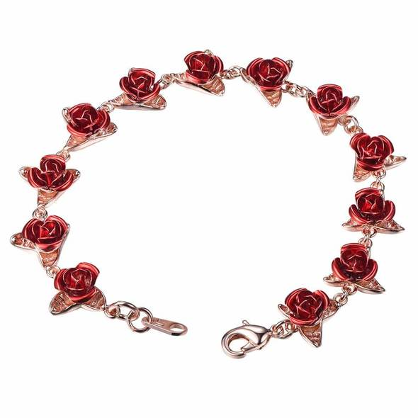 Dozen Rose Bracelet - 18K Rose Gold Plated