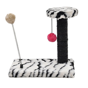 Lovely Cat Toys Spring Ball Toys Cat Tree Kitten Climbing Frame Multi-layer Cat Hanging Balls Cat Scratch Board Condo Furniture