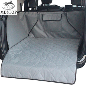 Waterproof Trunk Mat Dog Pets Cargo Liner Cover Non Slip Car Trunk Protector Back Seat Cover Pockets for SUV Pet Barrier