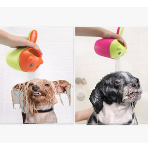 1X Toddler Shampoo Shower Bath Spoon Water Rinse Cup Baby Dog Pet Hair Wash Toys