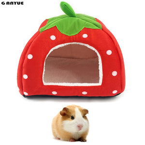 Ganyue Small Pet Sleeping House Hamster Puppy Kitten Home Bed Soft Guinea Pig Nest Bed Mini Animals Hedgehog Warm House bed