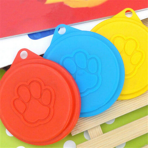 Mayitr 2x 88mm Dog Storage Top Cap Food Can Tin Cover Lid Pet Cat Puppy Food Can Lid Reusable Pet Supplies Random Color