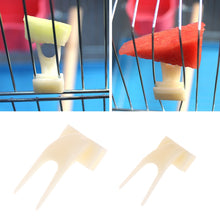 Load image into Gallery viewer, 2Pcs Birds Parrots Fruit Fork Pet Supplies Plastic Food Holder Feeding On Cage Pet Supplies