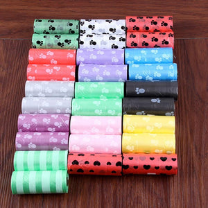 Portable Degradable Pet Waste Poop Bags 10 Roll 150pcs