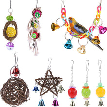 Load image into Gallery viewer, Lovely Rattan Ball Pet Parrot Bird Toys Chewing Climbing Swing Toys for Parrots Cage Stairs Windchimes Funny Bell Bird Play Toys
