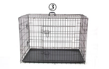 Load image into Gallery viewer, PAWZRoad Domestic Delivery Pet Dog Cage Crate Double-Door Pet Kennel Collapsible Easy Install Fit Your Pets 5 Sizes Pet House
