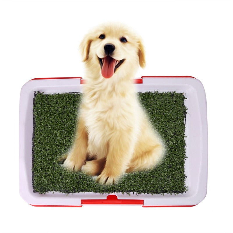 Pet Dog Potty Toilet Urinary Trainer Grass Mat Pad Patch Indoor Outdoor