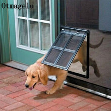 Load image into Gallery viewer, Lockable Plastic Pet Dog Cat Kitty Door for Screen Window Security Flap Gates Pet Tunnel Dog Fence Free Access Door for Home