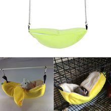 Load image into Gallery viewer, Hamster Hanging House Hammock Cage Sleeping Nest Pet Bed Rat Hamster Toys Cage Swing Pet Banana design Small Animals
