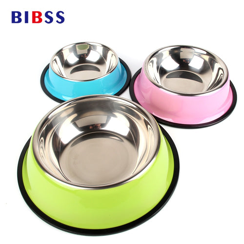 BIBSS Dog Bowl Travel Pet Dry Food Bowls for Cats Dogs Pink Dog Bowls Outdoor Drinking Water Fountain Pet Dog Dish Feeder Goods