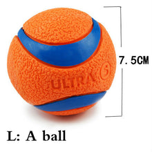 Load image into Gallery viewer, HOOPET Pet Dog Rubber Pinball Balls And A Ball Packing Orange Rubber Resistance To Bite Molars Toys Pet Supplies