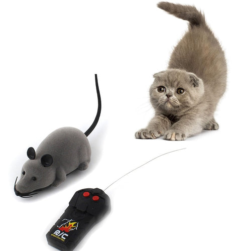 3 Colors False Mouse Mice Toy Cat Toy Wireless Remote Control Simulation Plush Mouse Electronic RC Rat Mice Toy