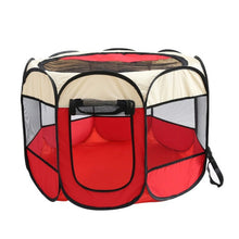 Load image into Gallery viewer, Portable Folding Pet tent Dog House Cage Dog Cat Tent Playpen Puppy Kennel Easy Operation Octagonal Fence outdoor supplies