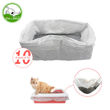 Load image into Gallery viewer, 10pcs/lot Reusable Cat Feces Filter Hands Free Cats Sifting Litter Tray Liners Elastic Kitten Hygienic Litter Box Liners