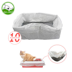 10pcs/lot Reusable Cat Feces Filter Hands Free Cats Sifting Litter Tray Liners Elastic Kitten Hygienic Litter Box Liners