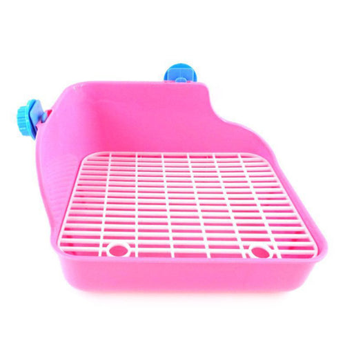 Pet Cat Rabbit Pee Toilet Plastic Small Animal Toilets Hamster Guinea Pig Litter Tray Corner Pet Litter Training Tray 28*22*15cm