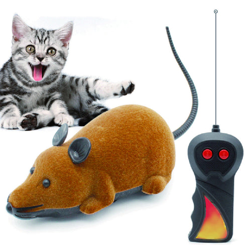Mouse Toys Wireless RC Mice Cat Toys Remote Control False Mouse Novelty RC Cat Funny Playing Mouse Toys For Cats