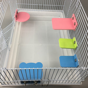 Hamster Perches Platform Colorful Birds Springboard Rat Chinchillas Stand Rack Platform Cage Toys For Small Animals