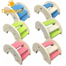 Load image into Gallery viewer, Cute Hamster Ladder Rainbow Bridge Pet Toys Wooden Bridge Hanging toys Small Animals Cage Accessories Pet Product