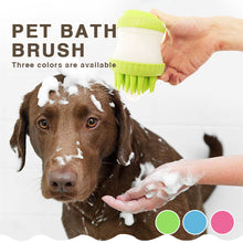 Load image into Gallery viewer, Dog Bath Brush Comb Cleaning Bath Massage Grooming Pet Bath Brush Dog Cat Brush Shampoo Grooming Multifunction Silicone Pet Brus