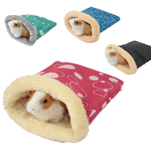 Warm Plush Hamster Bed House Soft Guinea Pig Bed Rat Nest Small Animals Mouse Sleeping Bag cavie House Accessories Hamster Cage