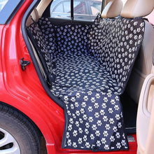 Load image into Gallery viewer, Pet carriers Oxford Fabric Paw pattern Car Pet Seat Cover Dog Car Back Seat Carrier Waterproof Pet Mat Hammock Cushion Protector