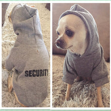 Load image into Gallery viewer, Security Dog Clothes Classic Pet Dog Hoodies Clothes For Small Dog Autumn Coat Jacket for Yorkie Chihuahua Puppy Clothing 10d3S1