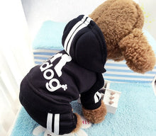 Load image into Gallery viewer, Winter Warm Pet Dog Clothes Soft Cotton Four-legs Hoodies Outfit For Small Dogs Chihuahua Pug Sweater Clothing Puppy Coat Jacket