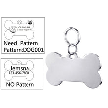 Load image into Gallery viewer, Personalized Engraved Cat Name Tag Anti-lost Stainless Steel Dog Tag For Cat Collar Accessory Customized Pet ID Tags