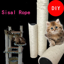 Load image into Gallery viewer, Sisal Rope for Cat Tree Cat Climbing Frame DIY cats scratching post toys making desk legs binding rope for cat sharpen claw