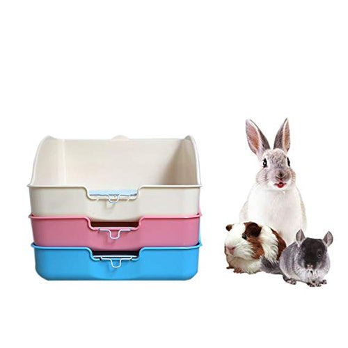 Pet Small Rat Toilet Square Potty Trainer Corner Litter Bedding Box Pet Pan for Small Animal/rabbit/guinea Pig Galesaur Ferret