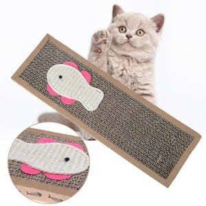 Cat Scratcher Pet Cat Toys Kitten Training Scratching Post Catnip Lounge Interactive Toys For Cat Pet Products 37x12cm
