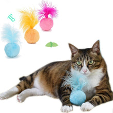 Load image into Gallery viewer, Catnip Sound Ball Hair Ring Bell Teaser Pet Toys For Cat and Kitten Interactive Fun