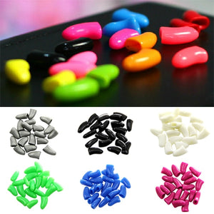20Pcs Colorful Soft Silicone Pet Dog Cat Kitten Paw Claw Care Control Nail Caps Covers