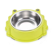 Load image into Gallery viewer, Pet dog food bowl stainless steel dog Bowl Puppy Cat Bowl Water Food Storage Feeder Non-toxic PP Resin Combo Rice Basin 3 Colors