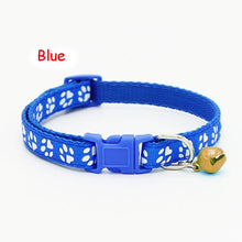 Load image into Gallery viewer, Hot Lovely Small Footprint Pet Collar Nylon Fabric With Bell Kitten  Puppy Chain Dog Cat Collar