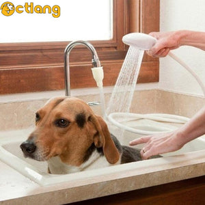 Cat Dog Bath Shower Pet Sprayer Sink Hose Shampoo Horse Spray Head Hair Wash Bathroom Tap Accessories Grooming Glove Dogs Cats