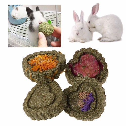 2pcs Small Pets Hamster Grinding Teeth Cake Cookie Animals Rabbit Chinchilla Guniea Pig Molar Chew Play Toy 4 Types