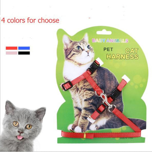Nylon Pet Cat Harness And Leash Products For Cat Vest Adjustable