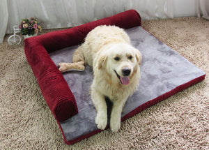 Warm Pet Dog Bed Sofa, Soft and Comfortable and Removable and Washable