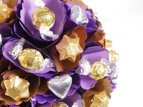 Image of Copper-Violet Chocolate Bouquet