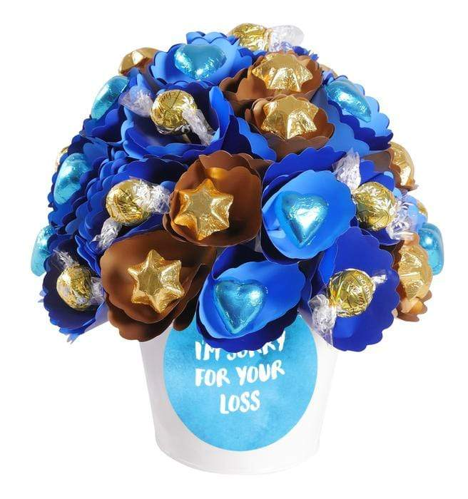 I'm Sorry For Your Loss Copper-Royal Chocolate Bouquet