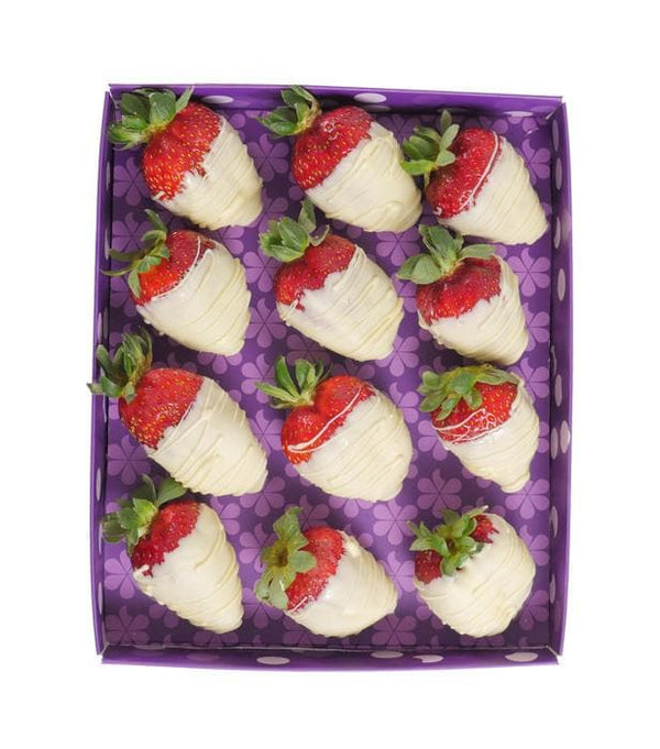 Dozen White Choc-Dipped Strawberries - London only