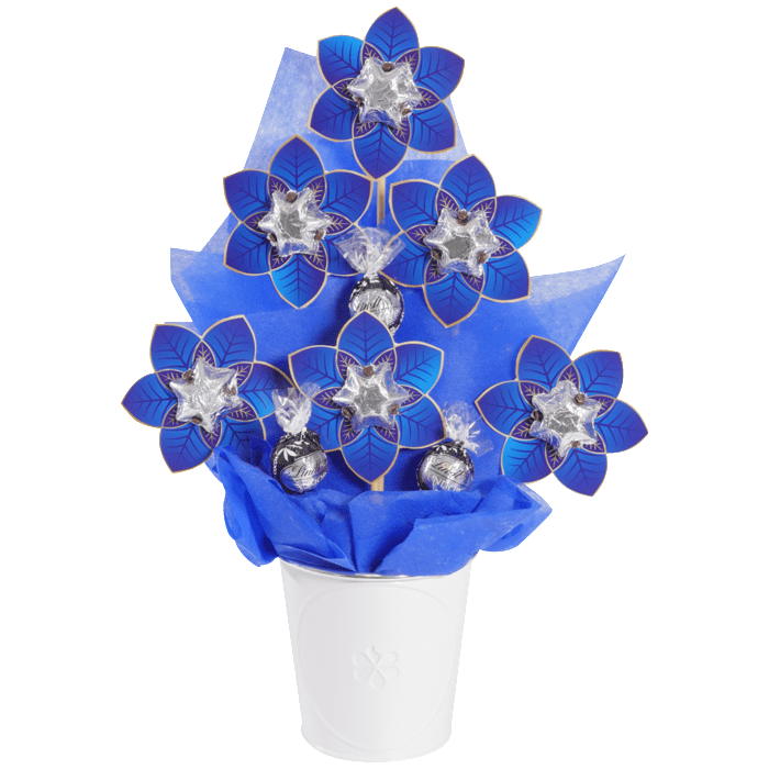 Small Navy Poinsettia Christmas Bloom
